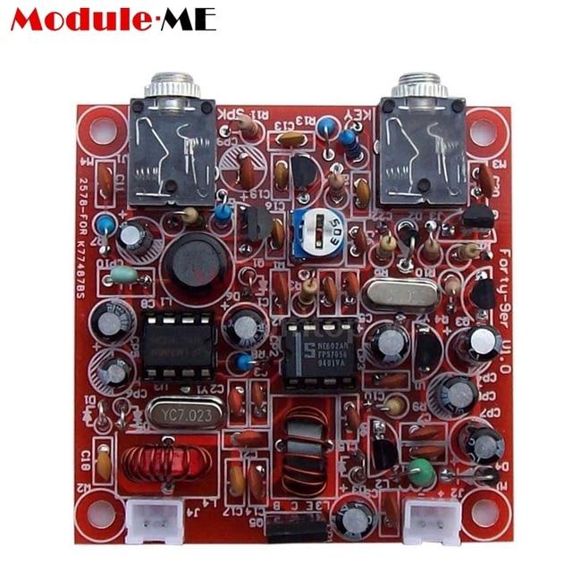 US $7 31 10% OFF|3W Radio Transceiver Diy Kit 12V Parts For QRP Ham CW  Receiver Telegraph Shortwave Radio 7 023MHz Parts Transmitter Module  Board-in