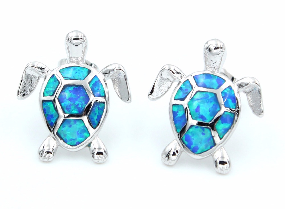 female turtle opal earrings fire gold junxin jewelry earring fashion filled sea black stud small products trendmarvels blue double