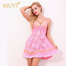 2016 Bridal Lingerie Women Sexy Hot Babydoll Dress Erotic Apparel Female Thong Ladies Costume Sex New Products Lace Nightwear