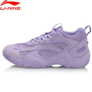 Li-Ning Women REBIRTH Basketball Culture Shoes Breathable Dad Shoes LiNing Wearable Sport Shoes Sneakers AGBP012 XYL255