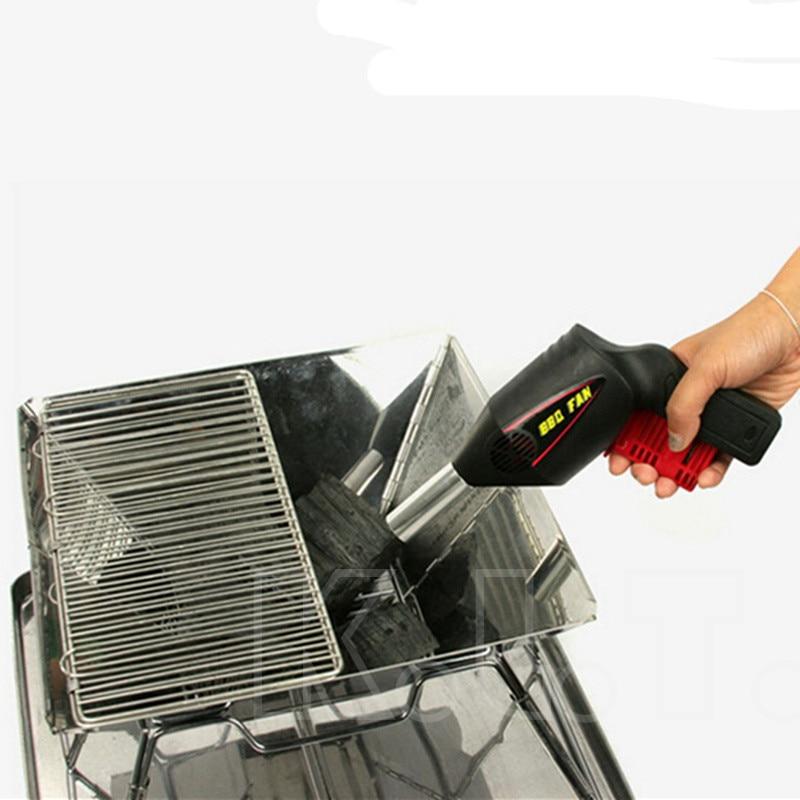 New Bbq Fan Outdoor Gun Grill Air Fire Non Stick Tong Hand