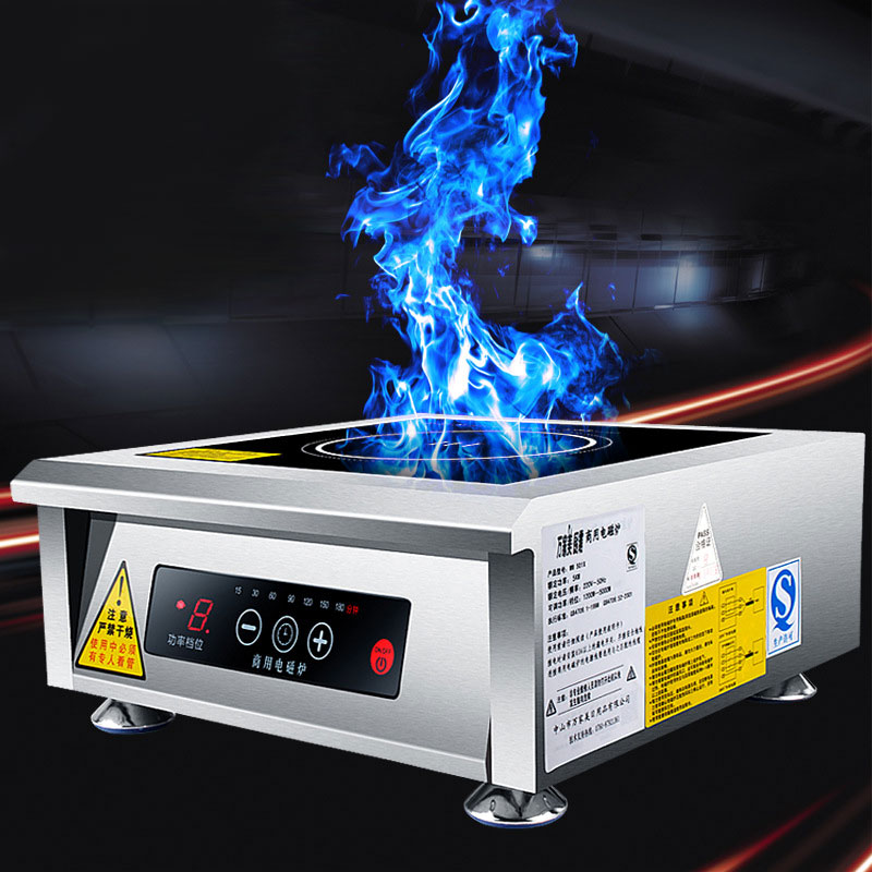 Commercial Induction Cooker 5000W Plane High Power Oyster Soup Water Stirring WM-501X