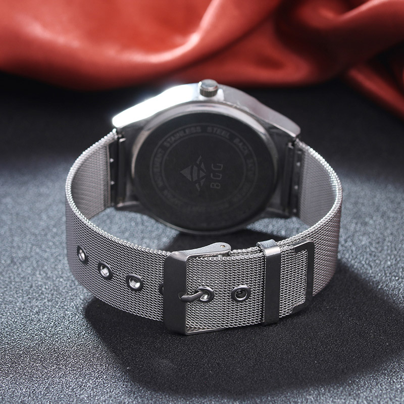 BGG-Mens-casual-Watches-Two-Turntables-students-Business-Quartz-watch-Mesh-band-Military-Wristwatch-male-creative