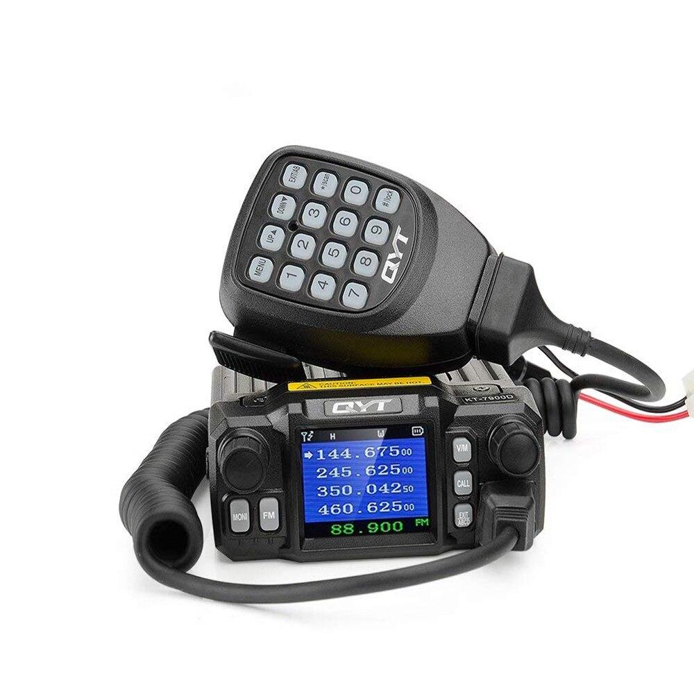 QYT KT 7900D Mobile Radio Quad band Quad Display 144/220/350/440MHZ 25W Car Walkie Talkie Two Way Radio KT7900D