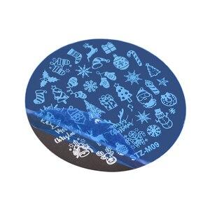 Image 4 - Рождественские пластины для стемпинга ногтей, снежинка, олень, зимняя пластина для изображения, сделай сам, дизайн ногтей, трафареты для маникюра, инструменты для маникюра, 1 шт.