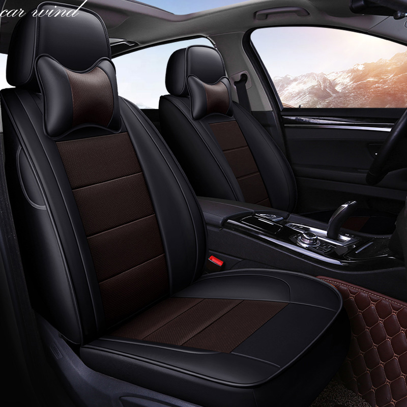 Car Wind Auto automobiles Cowhide leather car seat cover For Skoda Rapid Fabia Superb Octavia a5 Yeti car accessories styling