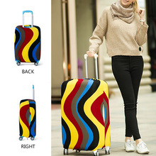 22-26 inch Travel Luggage Cover Protector Suitcase for Trolley Case Trunk Case Dust Cover Print Dot Striped Luggage Cover Punk недорого