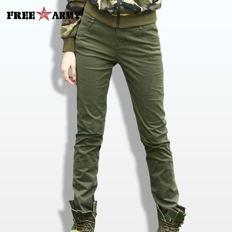 FREE ARMY Fashion High Waist Pants Women Plain Slim Pants Spandex Women's Casual Pants Camo Trousers Female Spring Pencil Pants pantalon femme women casual pantsfashion pants women - AliExpress
