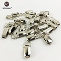 100 Silvery 28mm( 0.78 inch) Metal Pacifier Clips Buckles suspender clips Bib Holder handmade baby teether