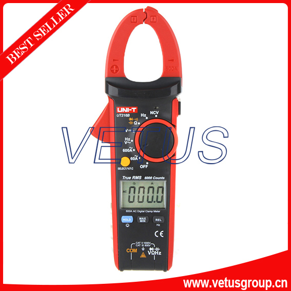 UT216B LCD display ac dc clamp meter with Frequency tester ac 3 1 2 lcd display automatic manual shift digital clamp meter tester tm 1012 tm1012