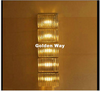 Free Shipping Crystal Wall Lamp for Living Room Chrome L100cm Wall Lighting Golden Modern Style High grade Crystal Wall Sconces