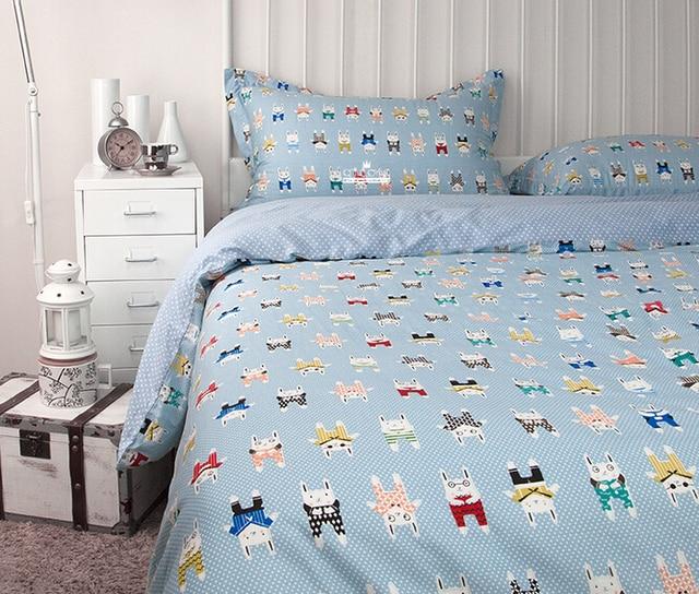 2017 New 100 Cotton Cartoon Kids Bedding Set Ikea Casa Boho Duvet Cover Bed Sheet