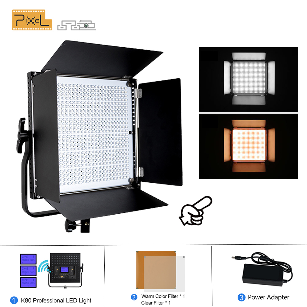 Pixel K80 Professional Photography 2 4G Wireless Transmission LED Lamp Outdoor Photo Light Wedding Film Photography