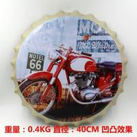New arrival tin sign Red Motorcycle Vintage Metal Painting Beer cap Bar pub Wallpaper Decor Retro Mural Poster Craft 40x40 CM