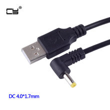 5v 2a dc 4.0mm x 1.7mm tomada de alimentação usb macho a 4.0*1.7mm/dc 4017 carregador cabo de alimentação jack 4.0x1.7mm 100cm 2m