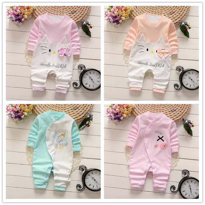 Combed Cotton Baby Jumpsuit Newborn Pure Cotton Hardy  Baby Long-sleeved Crawl Suit New Born Baby Clothes  Baby Pajamas Newborn