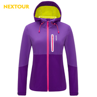 NEXTOUR Winter Womenen Softshell Contrast Color Waterproof Windproof With Fleece Thermal Antistatic Climbing Hiking J1091