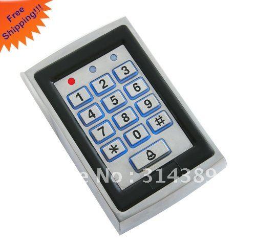 Aluminum metal casing.1000 USERS,extendable to 8k,Keypad password,backlight,EM card,reader extendable casing