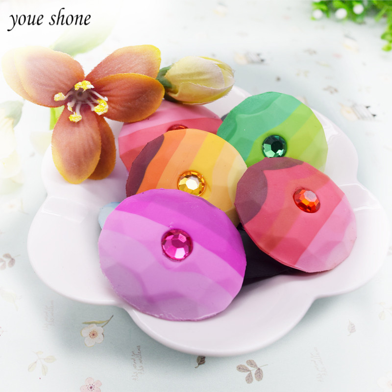 3PC Stone Shape Eraser Lovely Pebble Eraser  Irregularity Masonry Eraser Primary School Supplies School Stationery
