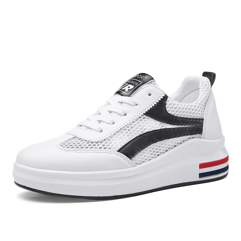 Womens Shoes Breathable Casual White Running Shoes Fashion Women Sneakers Mesh Lace Up Tenis Feminino Grey Black Red Size 35-40