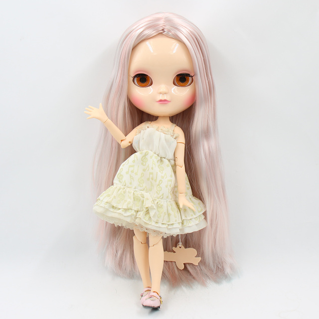 ICY BJD Joint azone body 30CM small chestPink mixed color soft straight hair high quality sd toy gifts free shipping