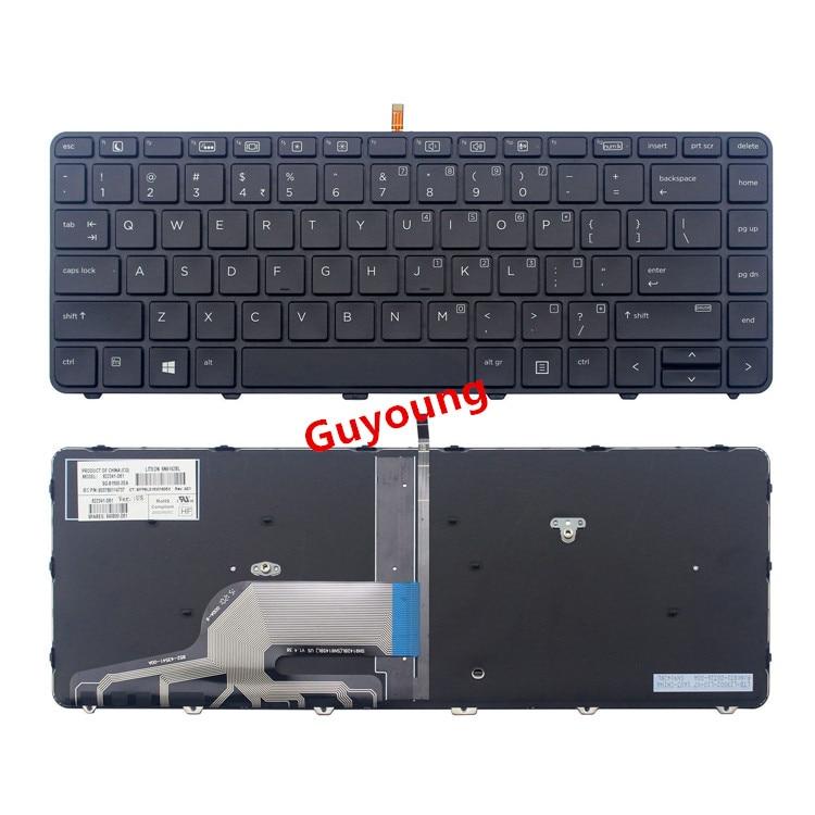 Клавиатура с английской подсветкой для ноутбука HP Probook 430 G3 430 G4 440 G3 440 G4 445 G3 640 G2 645 G2 446 G3 US