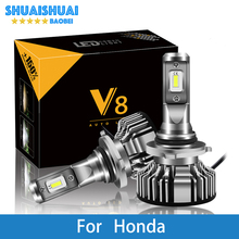 купить 2 Pcs Car Headlight For Honda Civic Accord Jazz Crv Odyssey City Insight Pilot H7  H4 LED H1 H7 H3 9005 6500K 8000LM CSP Chips онлайн
