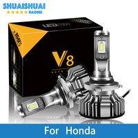 2 Pcs Car Headlight For Honda Civic Accord Jazz Crv Odyssey City Insight Pilot H7 H4 LED H1 H7 H3 9005 6500K 8000LM CSP Chips