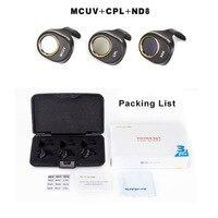 3Pcs ND8 CPL Circular Polarizer MCUV UV Camera Lens Filter Kit for DJI SPARK Won t