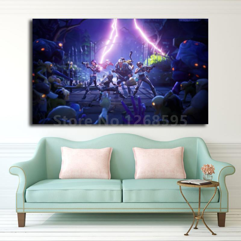 Mysterious Comet Appears In  Battle Royale Skies Gaming Art Canvas Poster Painting Wall Picture Print Home Bedroom Decor 1