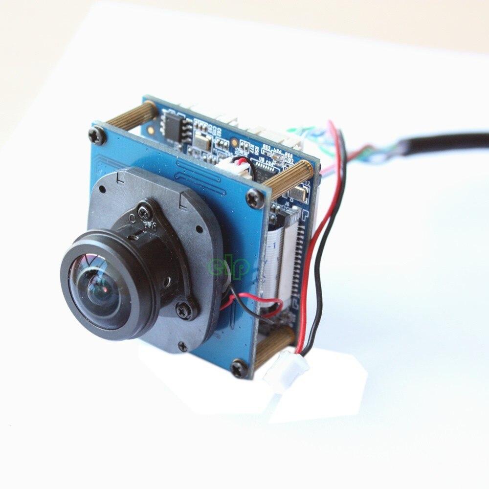 ELP Panoramic 360degree view angle H.264 Onvif P2P Mini 5mp oem Fisheye ip camera module cam камера наблюдения elp 1080p full hd onvif 2 0 p2p h 264 ip 1080p 2 8 elp ip1882 l28 mic