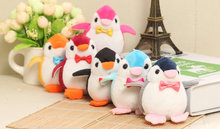 NEW 8CM Height Little Penguin toy , IN 3Colors - Plush Stuffed TOY , keychain Pendant Penguin DOLL TOY Wedding Gift Bouquet Toy(China)