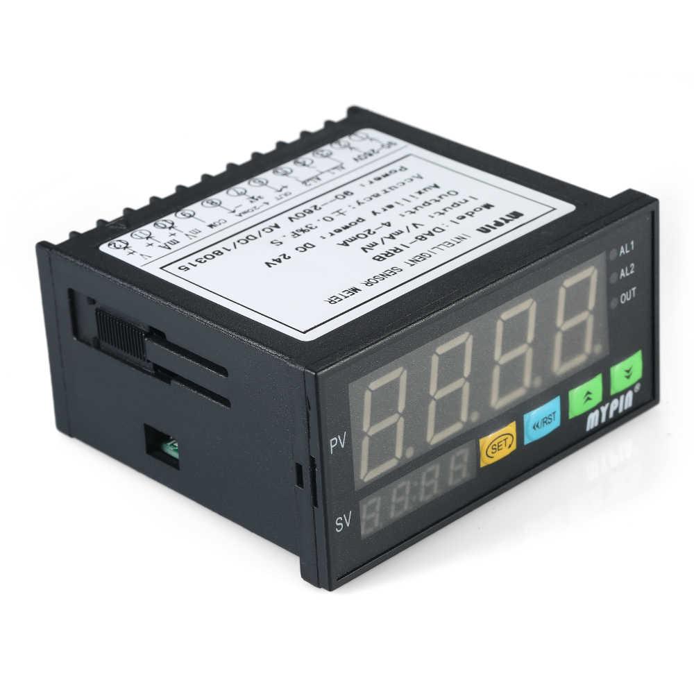 جهاز استشعار إنذار متعدد الوظائف شاشة LED رقمية جهاز قياس الاستشعار مع 2 إخراج إنذار التتابع و 0 ~ 10 فولت/4 ~ 20mA/0 ~ 75mV المدخلات