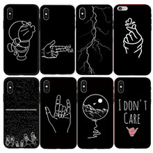 Soft TPU Back Cover For iPhone 6 6S 7 8 Plus Silicone Cases Art Abstract Lines For iPhone 5 5S SE X XR XS Max Phone Case цена и фото