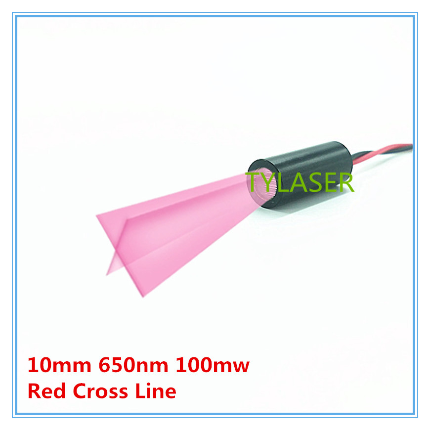10mm 650nm 100mW  Red Cross Line Laser Module Industrial Grade ACC Driver TYLASERS