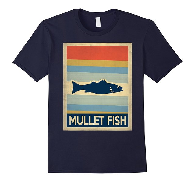 ae4ab01ef9e8bb Vintage Style Mullet Fish Tshirt High Quality Casual Printing Tee Short  Sleeve Funny Design Top Tee Mens T Shirts 2018 Fashion