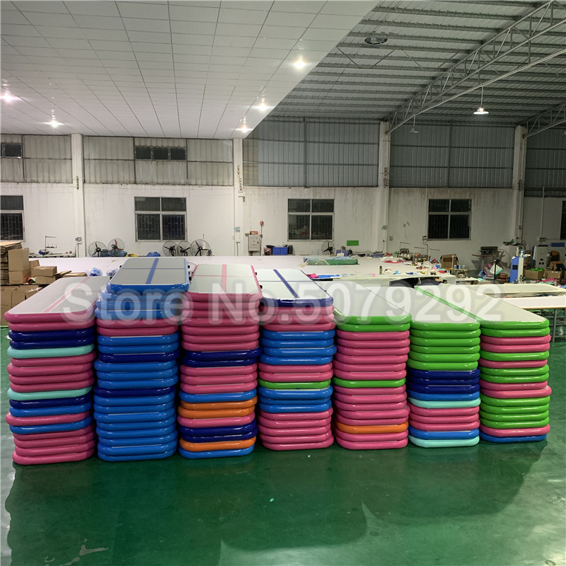 3*1*0.1M Custom Design Drop Stitch Airtrack 8M Cheap Air Track Tumbling Usato Mat For Gymnastics Cheap Air Foor With Pump