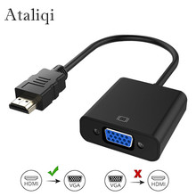 Ataliqi HDMI to VGA Adapter HDMI Male to VGA Female Video Converter 1080P Digital to Analog Audio for PC Laptop Tablet Projector