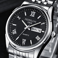 Relogio masculino Fedylon Moda Assistir Homens Top Marca de Luxo Negócio Relógios Semana Calendário Relógio De Quartzo Dos Homens de Aço Inoxidável
