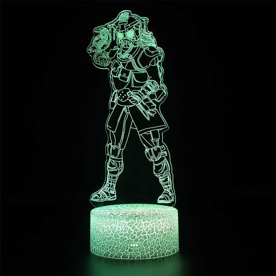 Trận chiến Royale APEX Da Đèn Điều Khiển Từ Xa Cảm Ứng Chuyển Đổi 3d Bảng Đèn Led Ánh Sáng Ban Đêm Illusion APEX Of Legends Đèn Ngủ