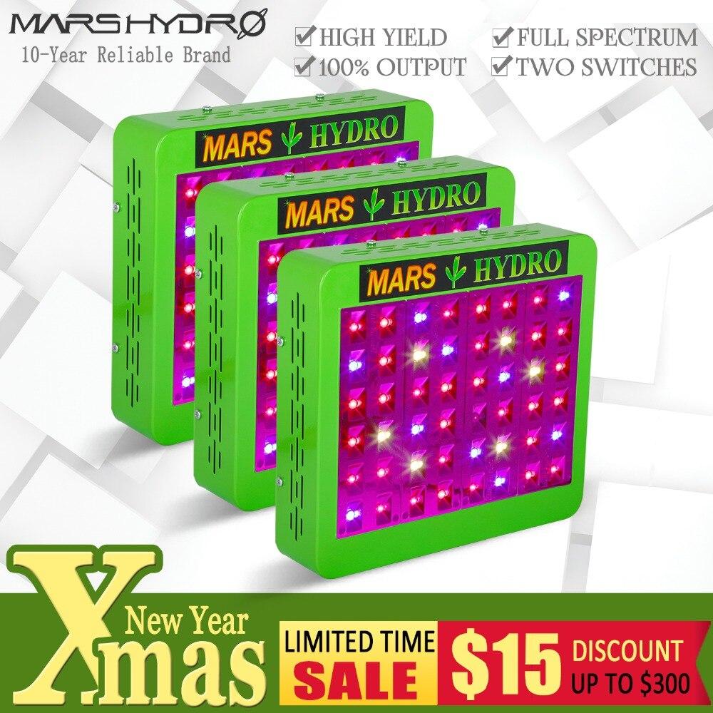 3 pcs Mars Hydro Reflector240W LED élèvent la lumière plein spectre Hydroponique Lampe veg bloom pour Effet de Serre