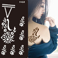 2017 de La Moda Desechable Diseño Plantillas para la Pintura Del Cuerpo Escarcha Tatuaje Temporal Stencil Henna mehndi Mano Tatuajes Body Art