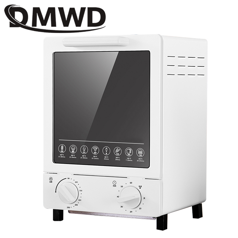 DMWD MINI toaster electric oven multifunction timer making biscuits bread cake pizza Cookies baking machine 12L liter 900W EU USDMWD MINI toaster electric oven multifunction timer making biscuits bread cake pizza Cookies baking machine 12L liter 900W EU US