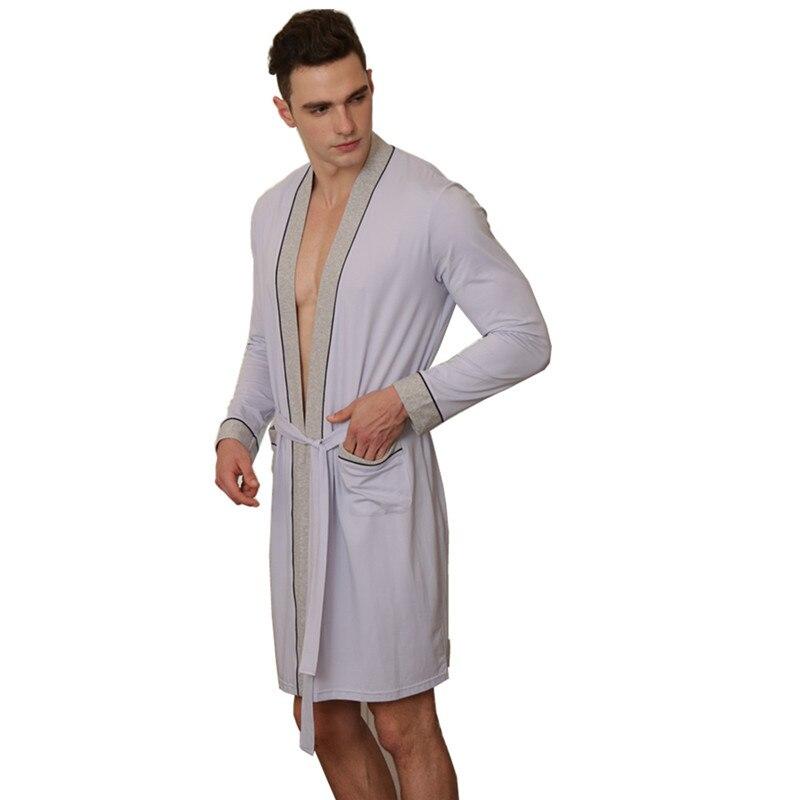 8362766681 2018 New Arrival Spring Summer Men s Lightweight Bathrobe Woven Kimono Robes  Big Tall Sleepwear Men Sleepwear