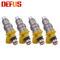 4pcs Fuel Injectors OEM 1001 87650 680cc For Car MR2 CELICA SUPRA 3S/7MGTE 4A/7MGE Car Engine Nozzle Injection Injector Fuel Kit