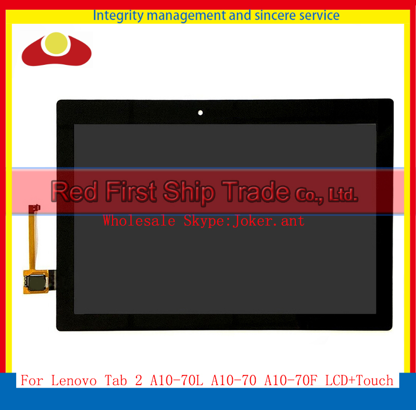 10.1 For Lenovo Tab 2 A10-70 A10-70F A10-70L Tablet Full LCD Display With Touch Screen Sensor Digitizer Assembly Complete