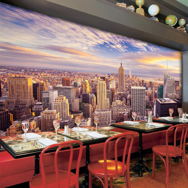 Online Shop Modern New York City Building Landscape 3D Wall Mural Photo Wallpaper Living Room Cafe