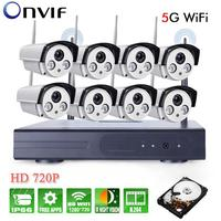 8CH IR HD Home Security Wifi Wireless IP Camera System 720P CCTV Outdoor Wifi Cameras Video