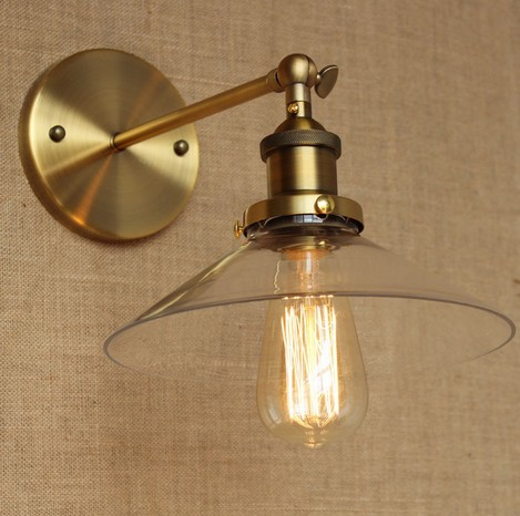Loft Style Industrial Vintage Wall Light Fixtures Gold Iron Art Glass Antique Lamp Bedside Edison Wall Sconce Lampara Pared american loft style glass edison wall sconce industrial vintage wall light for bedside antique hemp rope lamp lampara pared