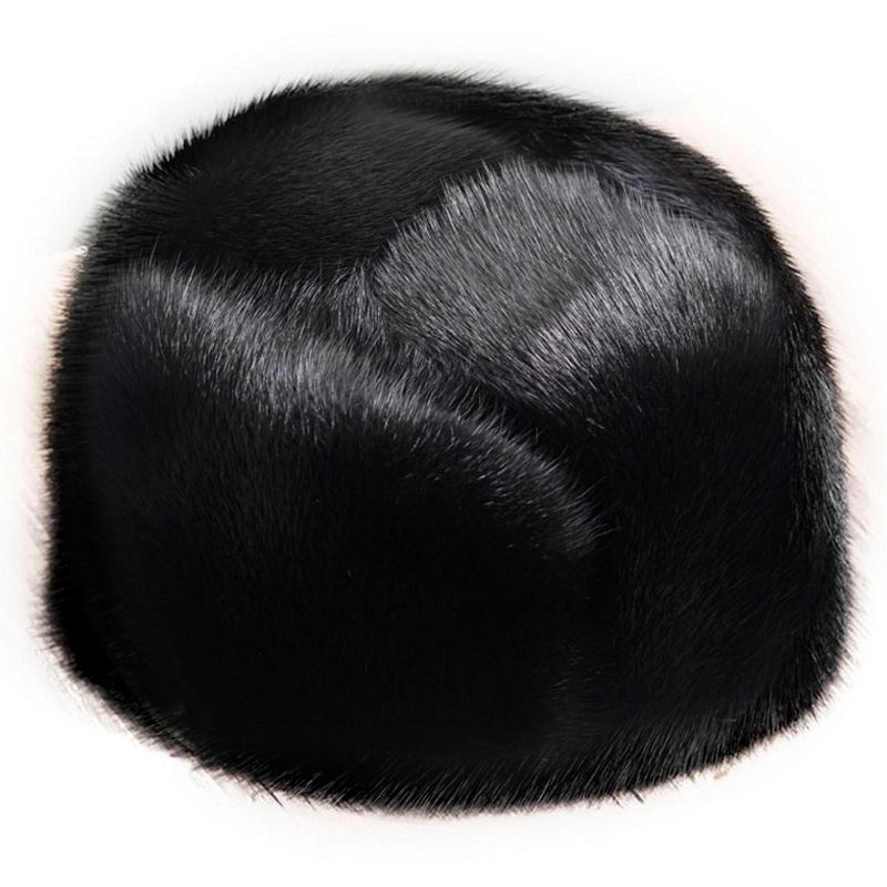 d78abab3e0ba8 ZDFURS *men mink fur hat Men's Mink Fur Trapper Cap Genuine Sheepskin  Leather Hunting Hat Ushanka ~ Perfect Deal July 2019